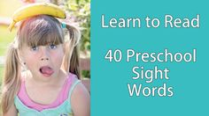 """When you learn to read, you need to recognize some words on sight. These are called """"sight words."""" In the Dolch system, there are 40 words at the Preschool l..."""