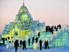 Harbin, a town in northeast China that has created an entire city out of ice and snow.