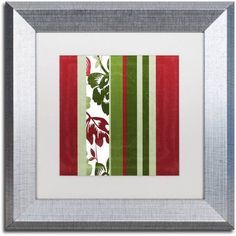 Trademark Fine Art Woodlands Christmas IV Canvas Art by Color Bakery White Matte, Silver Frame, Assorted