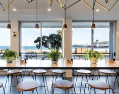 If you've been looking for a bayside cafe, step right up to Cafe Lafayette in Port Melbourne. Sitting on Beach Street, Cafe Lafayette is a relaxed cafe with an all day menu of modern Australian and Chinese fusion dishes. Melbourne Brunch, Masterchef Australia, Rooftop Bar, Patio, Table Decorations, Places, Outdoor Decor, Modern, Urban