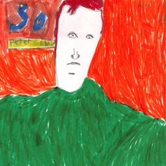 Album cover rendition by a kid (Tim).