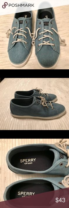 Sperry Top Sider seacoast canvas sneaker Only worn a hand full of times. Like new ! Sperry Shoes Sneakers