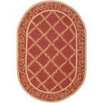 Chelsea Rust/Gold (Red/Gold) 4 ft. 6 in. x 6 ft. 6 in. Oval Area Rug
