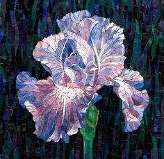 Мозаичная картина Ирис - Mosaic Flower
