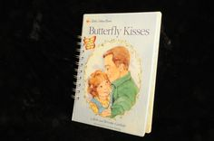 Butterfly Kisses / Little Golden Book Journal / Junk Journal / Altered Book / Recycled Book / Upcycled Book / Quiet Time Book / Diary by ArtandConsequence on Etsy