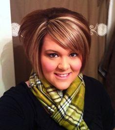 Haircuts for Chubby Women | Cute short hairstyles for fat women