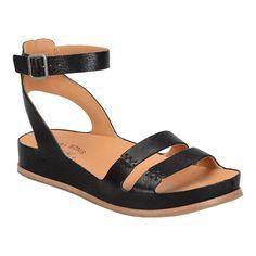 9563c3acac06 Women s Kork-Ease Audrina K454 Ankle Strap Sandal - Black Full Grain Leather  Heels Ankle