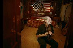 Willie Nelson on tour bus (via Danny Clinch Photography | Documentary | 1)