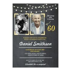 Photo Birthday Party Men's 2 Pictures Surprise Invitation 50th Birthday Party Invitations, 60th Birthday, Birthday Parties, Experience Gifts, Birthday Photos, Birthday Ideas, Best Gifts, Pictures, Invite
