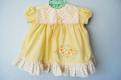Vintage baby girl dress - 3ringcircus on etsy