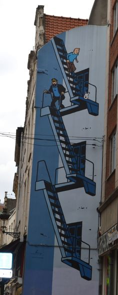 Trip to Brussels: Tintin mural