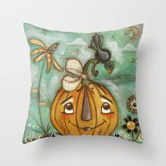 Well Hello! Throw Pillow by Diane Duda Art - $20.00