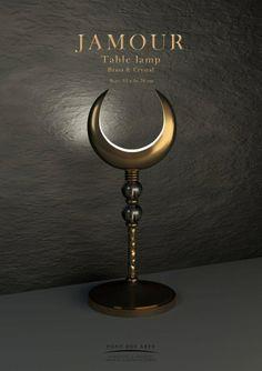 Jamour Table lamp - Bronze And Crystal - Pont des Arts - Designer Monzer Hammoud - Paris