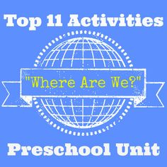 where are we Preschool geography unit