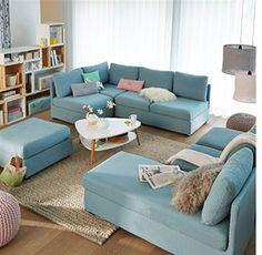 Canapé modulable Robin Redoute bleu