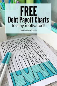 Having trouble sticking to your money goals? Feeling your motivation to pay off debt slip? Get some FREE visual charts to keep track of your progress, see yourself winning, and stay motivated to reach your goals. Paying Off Student Loans, Organizing Paperwork, Cash Envelope System, Paying Off Credit Cards, Debt Snowball, Budget Binder, Budgeting Finances, Debt Payoff, Debt Free
