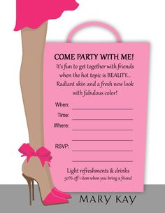 printable mary kay invitations - Google Search