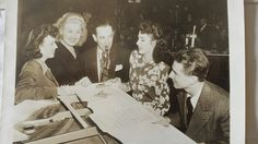 The Dinning Sisters playing with Jimmy Dorsey