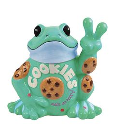 Look at this Peace Frog 'Cookies Make Me Happy' Cookie Jar on #zulily today!