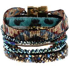 Hipanema Bracelet ($86) ❤ liked on Polyvore featuring jewelry, bracelets, jewels, deep jade, beading jewelry, bead bracelet, bracelet bangle, bracelet jewelry and beaded jewelry