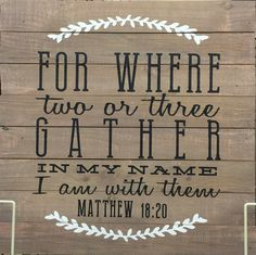For where two or three gather...