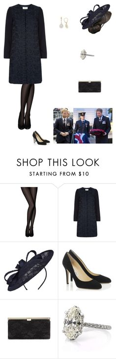 """""""Attending an Anzac Day service"""" by kleinnicole ❤ liked on Polyvore featuring Pretty Polly, Hobbs, Untold and Jimmy Choo"""