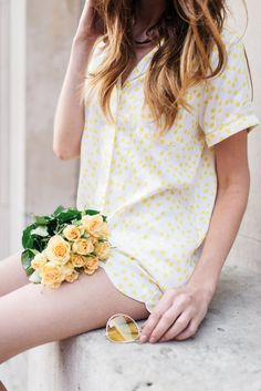 Is this not the loveliest thing that you've ever seen? Sunny in September short pyjama sets available to buy right now:)