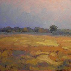 """Daily Paintworks - """"Autumn Harvest Golden Fields C..."""" by Heidi Malott"""