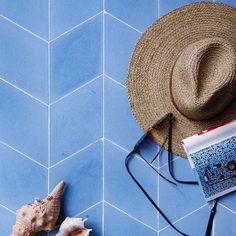 Diamond Blue Encaustic Cement Tile Turkish Tiles, Moroccan Tiles, Terrazzo Tile, Cement Tiles, Encaustic Tile, Handmade Tiles, Porcelain Tile, Tile Design, Ancient Art