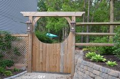 Rustic Gardens Arbors with Gates | Garden arbor with gate and lanterns