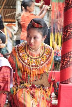 Torajan. Girl in traditional dress, Tana Toraja, Sulawesi.