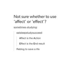 Image result for affect vs effect tumblr