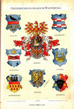 - Image by Hugo Gerard Ströhl European History, Local History, Austrian Empire, Army Ranks, Holy Roman Empire, Family Crest, Crests, Banner, History