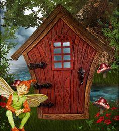 fairy garden doors | Wizard Man Fairy Door