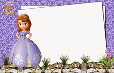 Sofia the First Free Printable Invitations or Photo Frames. Free Printable Invitations, Party Printables, Invitation Cards, Barbie Birthday Invitations, Princess Sofia Birthday, Barbie Theme, Happy Birthday Wishes Quotes, Birthday Wallpaper, Sofia Party