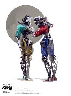ROBO RECALL ILLUSTRATIONS on Behance