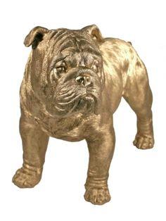 Golden Bulldog Shelf Decor - only $44.99 | Unique Gifts & Home Decor | Karma Kiss