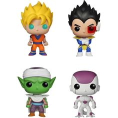 Funko - Dragonball Z Pop! Anime Vinyl Collectors Set: Super Saiyan Goku, Vegeta, Piccolo, Final Form Frieza - Multi, G847944000860