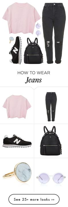 """""""Love child"""" by sulk-y on Polyvore featuring Topshop, New Balance, Sunettes, Fendi and Accessorize"""