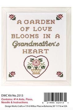 """Lovely Design Works GRANDMOTHER'S HEART Kit  HTF 8"""" x 10"""""""