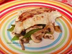 Cinco sentidos na cozinha: Filetes de peixe grelhados com salteado de cogumel...