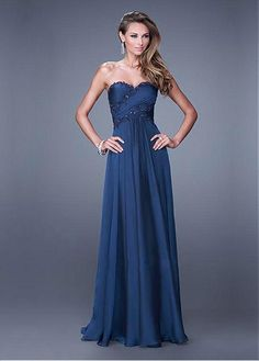 Chic Satin Chiffon Sweetheart Neckline Floor-length A-line Prom Dress