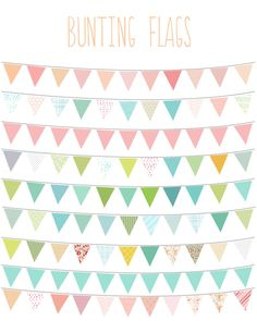 Clip Art - Bunting Flags (9 files...can change colors, patterns, size, hang on an angle, layer and combine)  $5  {Angie Makes}