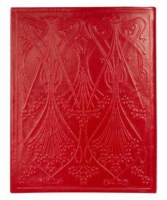 Liberty London Medium Red Ianthe Leather Notebook  Stationery by Liberty London