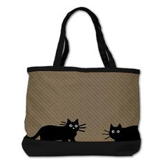 Adorable Black Cats Tote Bag http://www.cafepress.com/ black_cats_shoulder_bag,645790698?aid=1115743 CafePress has the best selection of custom t-shirts, personalized gifts, posters , art, mugs, and much more.{Cafepress-FQoAtWku}