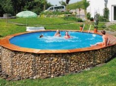 Above Ground Pool On Sloped Yard Google Search