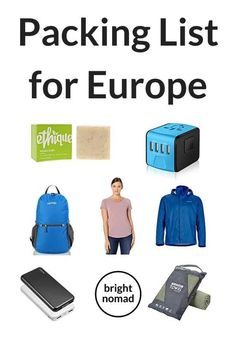 Packing List for Europe - Everything you need to pack for a European trip  #packing #list #europe #trip #travel #gear #gadets #travellight #traveltips