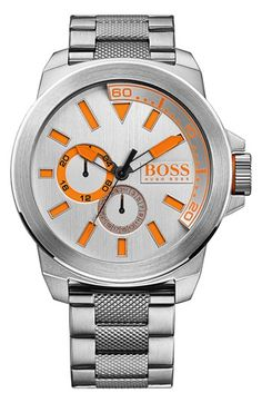 BOSS Orange Multifunction Bracelet Watch, 50mm available at #Nordstrom