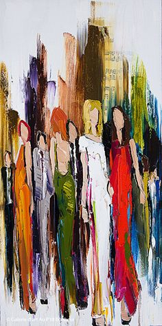 Kimberly Kiel, 'All These Comings And Goings', 18'' x 36'' | Galerie d'art - Au P'tit Bonheur - Art Gallery