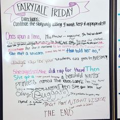 Fairy Tale Friday {Whiteboard Idea} | 5th Grade in Florida